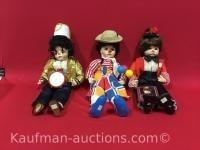 Schmid Doll house carnival collection porcelain clown dolls