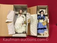 2 Franklin Heirloom porcelain dolls