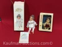 Fairy godmother porcelain, and Eugene doll