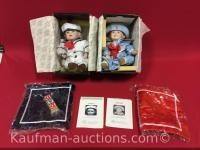 2 Knowles porcelain dolls/ Matthew and Amanda