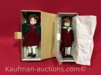 2 Delton porcelain dolls