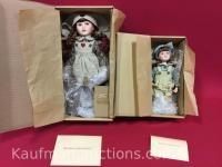 2 Yesterdays Child porcelain dolls/ Katherine & Erin Lynn