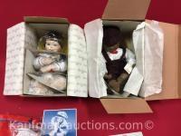 2 Ashton Drake porcelain dolls / includes Justin