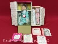 2 Ashton Drake porcelain dolls/ Rock-a-bye baby and my first tooth