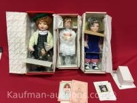 3 Knowles porcelain dolls / Includes Ryan and Polly