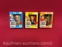 Snap, Crackle & Pop rice krispies dolls