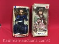 Angelina collection & collectors choice porcelain dolls
