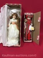 2 heritage dolls / porcelain hands & feet