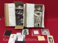 2 Ashton Drake porcelain dolls / marmee & amy