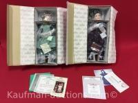 2 Ashton Drake porcelain dolls / beth & jo