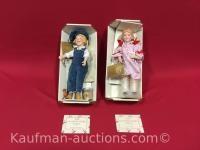 2 Franklin Heirloom porcelain dolls/ Dutchboy paint and Jell-O girl