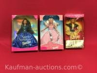 3 barbie dolls / sapphire sophisticate, 35th anniversary