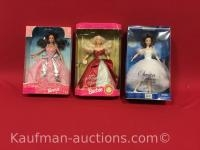 3 barbie dolls/ 35th anniversary and Swan ballerina
