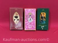 3 hallmark barbie dolls/ holiday memories, fair valentine & yuletide romance