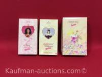 3 barbie dolls/ sweet valentine, sentimental valentine & starlight waltz