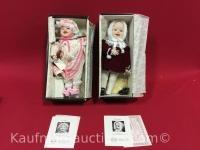 2 Knowles porcelain dolls/ sarah & jennifer
