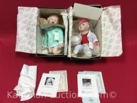 2 Knowles porcelain dolls/ jessica & michael