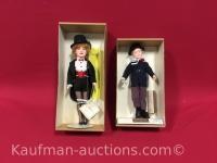 2 Effanbee dolls/ 1985 tom sawyer & lucy