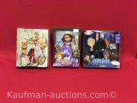 Apple white, sofia the first & harry potter dolls