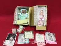 2 Ashton Drake porcelain dolls/ shawna & meagon rose