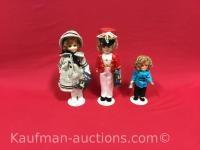 3 Shirley Temple dolls