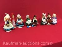 8 misc dolls/ includes 2 1973 Beautiful dolls of many lands