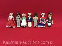 7 misc dolls / includes carlson dolls doll
