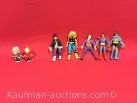 5 misc action figures & 2 smaller dolls