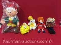 Keebler, domino sugar, annie & shotgun red dolls