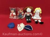4 Campbell Kids dolls