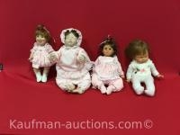 1981, 1983 & 1999 lee Middleton, & 1 Zapf dolls