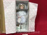Maud Humphrey playing bride porcelain doll