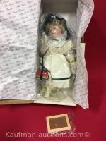 Maude Humphrey the first lesson porcelain doll