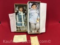 Duckhouse & victoria porcelain dolls
