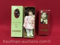 2 Mann porcelain dolls