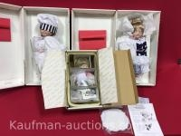 2 Francine Cee & Danbury Mint Campbell Kids Porcelain dolls