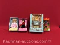 4 misc dolls/ Mr. wonderful, cottontail collection, Jonathan and Captain crook