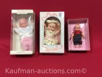 2 Kewpie & 1 Corolle Dolls