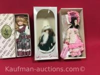2 Suzanne Gibson & 1 designers collection Porcelain dolls