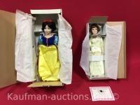 Disney's Snow White & The Gibson Bride Porcelain dolls