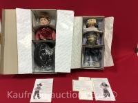 2 The Danbury Mint Porcelain Dolls/ Austin & Little Princess