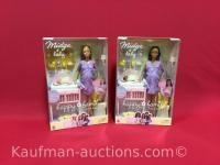 2 Midge & Baby Barbie Dolls