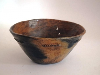 Native American hand thrown pottery bowl