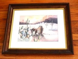 "Framed ""The Navajo Sheepherder"" by John Abeita"
