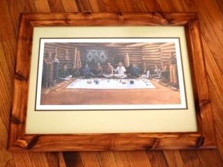 "Framed ""Pot & Peppers"" print  & matching tile"