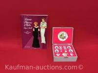 25th Anniversary Barbie Doll Tea Set & Diana Princess of Wales paper doll book