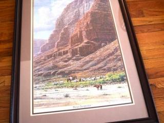 2 framed landscape photographs
