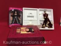 Holiday Ball & Winter fantasy Barbie porcelain dolls