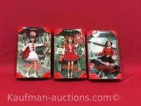 3 Coca-Cola Barbie dolls