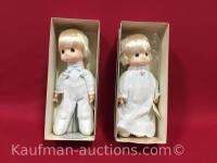 2 Precious memories porcelain 14 inch dolls